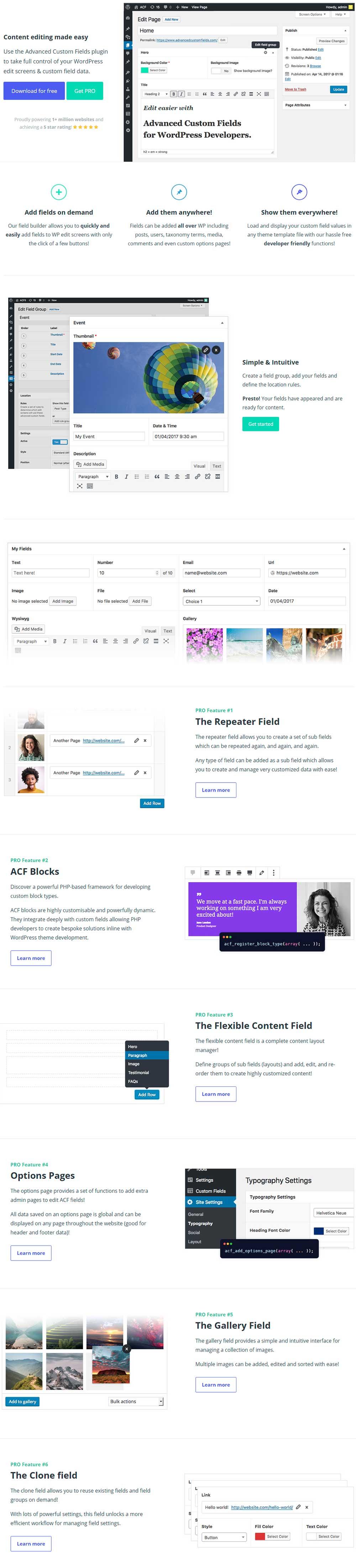 Advanced Custom Fields - WordPress Dynamic Content Plugin