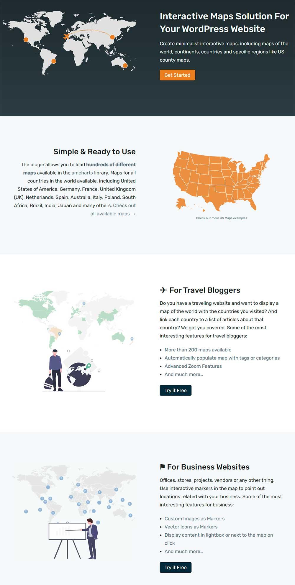 Interactive Geo Maps - WordPress Maps Plugin