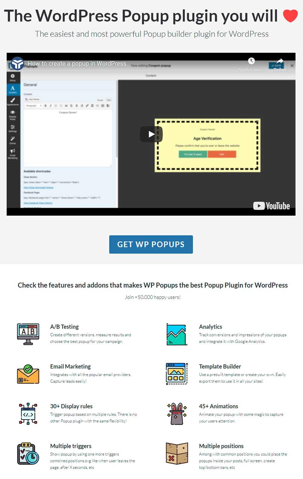 WP Popups - WordPress Popup Builder Plugin
