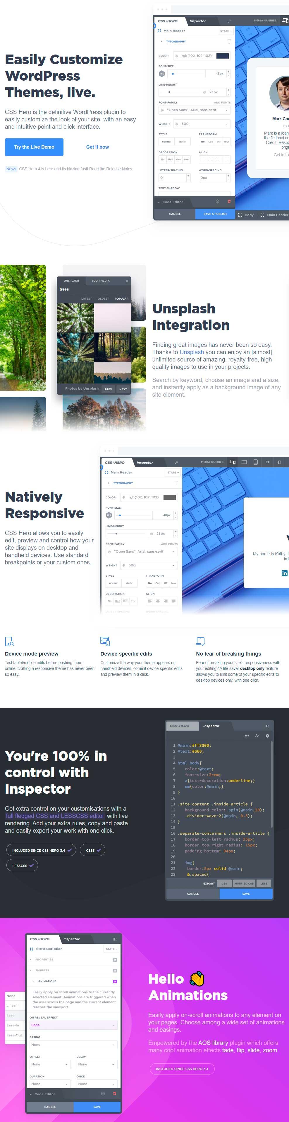 CSS Hero - WordPress CSS Editor Plugin