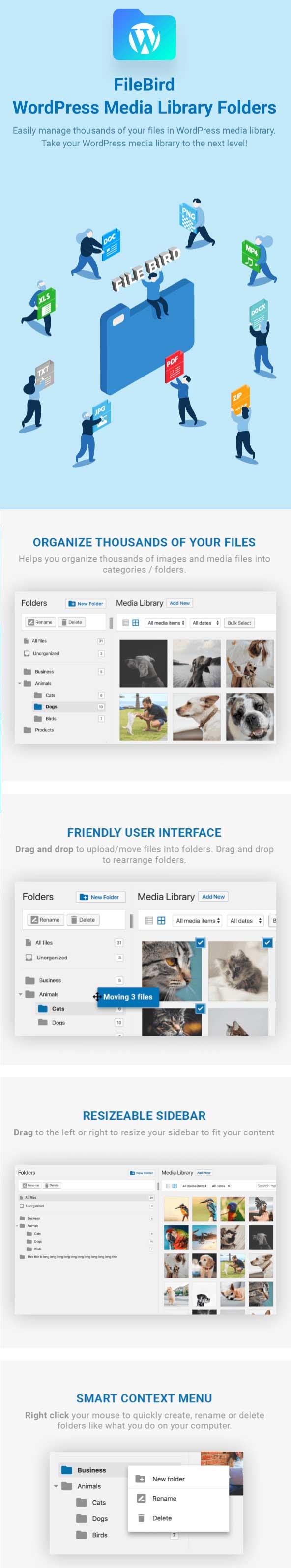 FileBird - WordPress Media Folder Plugin