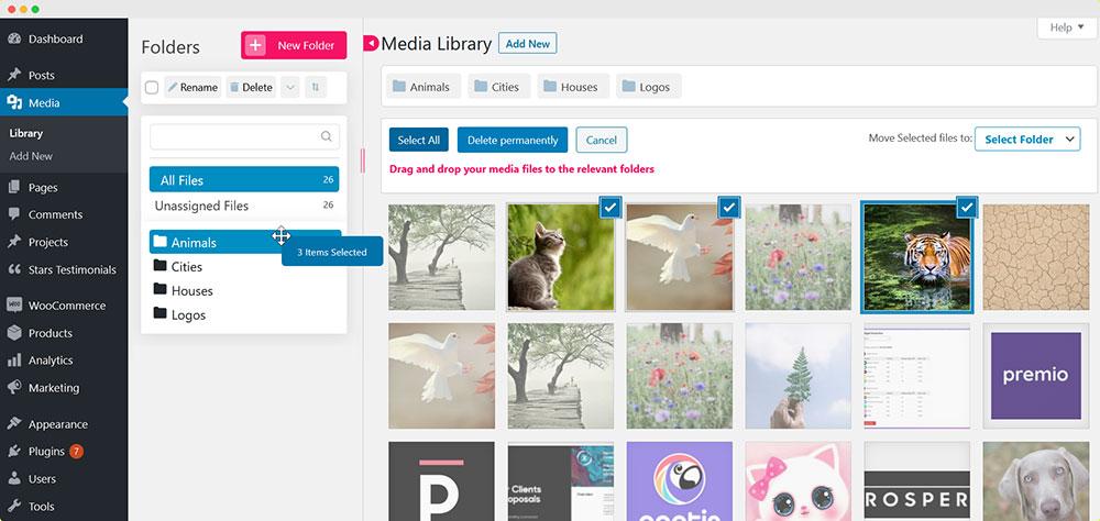 Folders - WordPress Media Folder Plugin