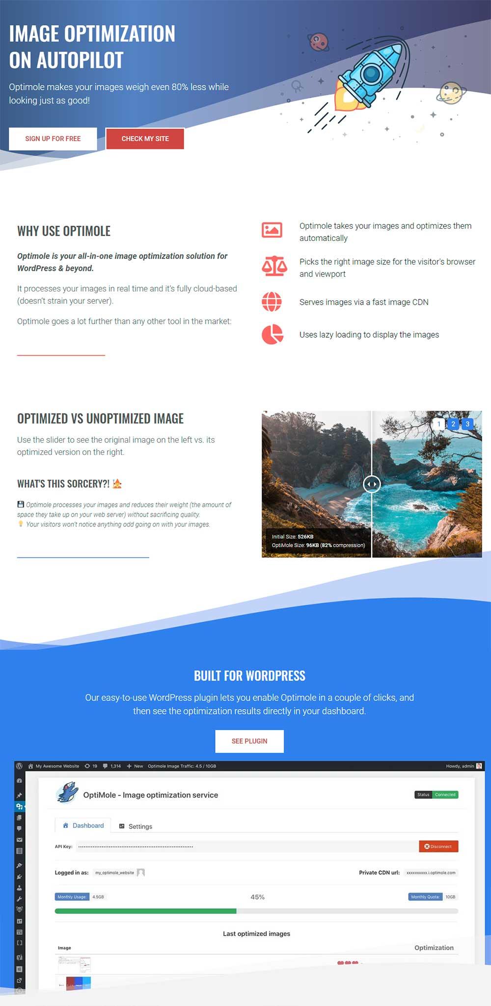 Optimole - WordPress Image Optimization Plugin