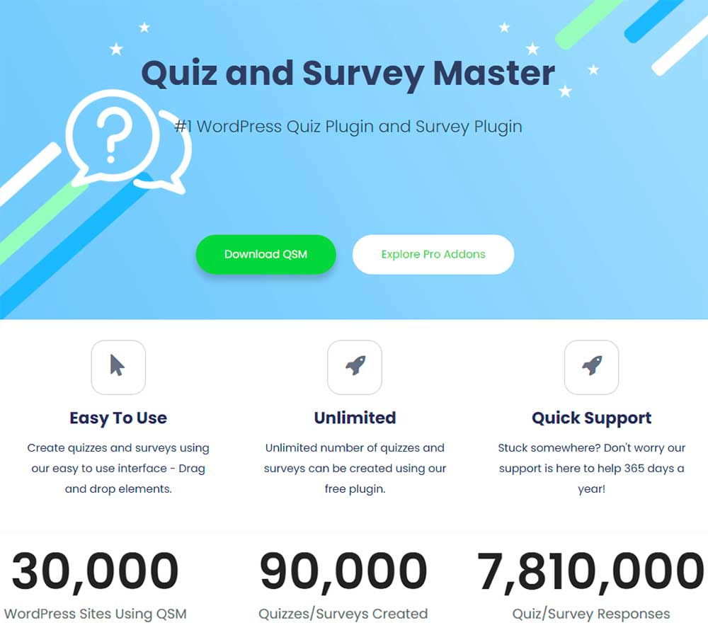 Quiz And Survey Master - WordPress Quiz Plugin