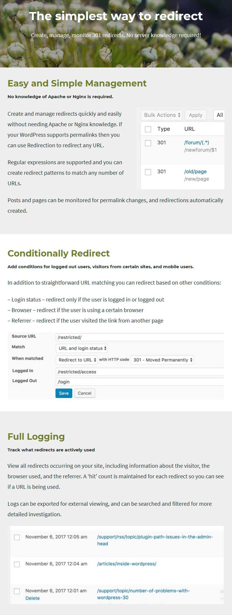 Redirection - WordPress Redirect Plugin