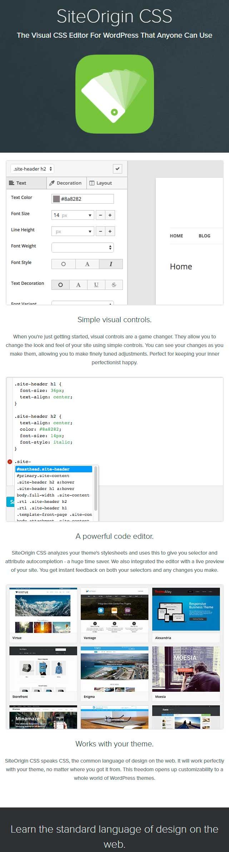 SiteOrigin CSS - WordPress CSS Editor Plugin